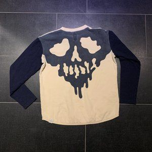 Rare Drop Dead Skull Fucked Baseball Henley Shirt